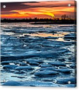 Icy Inferno Acrylic Print