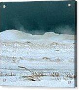 Icy Lake Michigan Acrylic Print