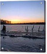 Icy Lake Sunset Acrylic Print