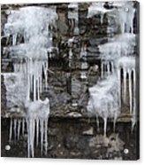 Icy Ledges Acrylic Print by Margaret McDermott