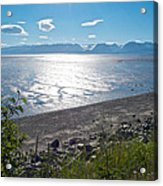 Icy-looking Kachemak Bay In Sunlight From Homer Spit-ak  Acrylic Print