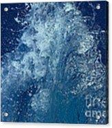 Icy Midnight Blue Acrylic Print