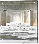 Icy Mississippi Bridge Acrylic Print