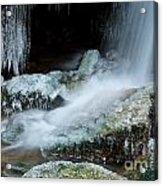 Icy Patapsco Waterfall 2 Acrylic Print