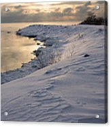 Icy Patterns On The Snow - A Lake Shore Morning Acrylic Print