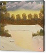 Icy Pond Acrylic Print