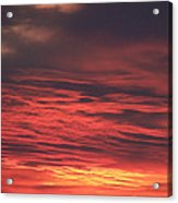 Icy Red Sky Acrylic Print