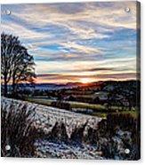 Icy Sunset Acrylic Print