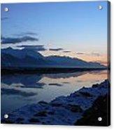 Icy Sunset Reflection Acrylic Print