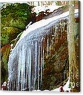 Icy Waterfall  Acrylic Print