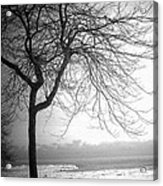 Icy Waters Of Lake Michigan Acrylic Print