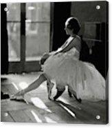 Ida Rubinstein Wearing A Tutu Acrylic Print by Phyllis Abbe