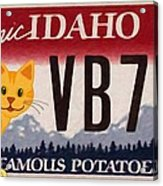 Idaho License Plate Acrylic Print