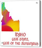 Idaho State Map Collection 2 Acrylic Print