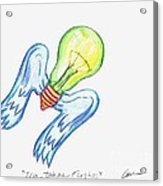Idea Takes Flight Acrylic Print by Feile Case