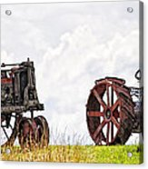 Idle Fordson Tractor On The Hill Acrylic Print