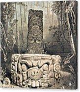 Idol And Altar At Copan Acrylic Print