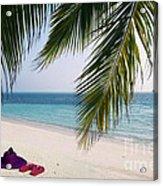 Idyllic Beach Just Waiting For You Acrylic Print