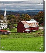 Idyllic Vermont Small Town Acrylic Print