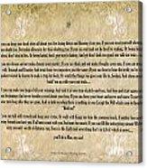 If By Rudyard Kipling Typography On Watercolor Acrylic Print