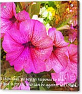 If God Is For Us Who Can Be Against Us Acrylic Print by Maggie Vlazny