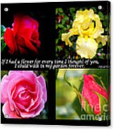If I Had A Flower Collage Acrylic Print