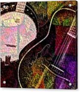 If Not For Color Digital Banjo And Guitar Art By Steven Langston Acrylic Print by Steven Lebron Langston