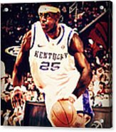 If They Had Played In College Acrylic Print by Edward Pegues