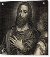 If Thou Be The Son Of God 1886 Engraving Acrylic Print by Antique Engravings