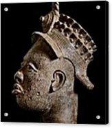 Ife Bronze Royal Head Portrait Acrylic Print