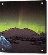 Igloo And Alaska Northern Lights  Acrylic Print