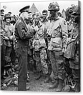Ike With D-day Paratroopers Acrylic Print