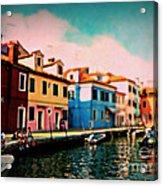 Il Colorato Villaggio Acrylic Print
