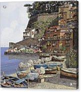 il porto di Sorrento Acrylic Print