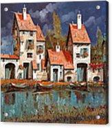 Il Villaggio Sul Lago Acrylic Print