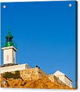 Ile Rousse Lighthouse In Corsica Acrylic Print
