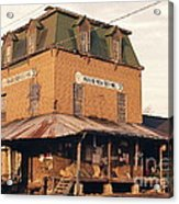 Illinois Feed Mill Acrylic Print by Robert Birkenes