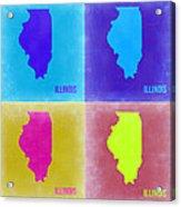 Illinois Pop Art Map 2 Acrylic Print