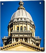 Illinois State Capitol Dome In Springfield Illinois Acrylic Print