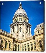 Illinois State Capitol In Springfield Illinois Acrylic Print