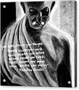 Illuminated Gandhi Acrylic Print by Naresh Sukhu