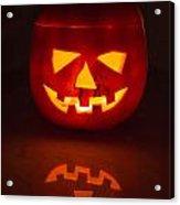 Illuminated Halloween Pumpkin Acrylic Print