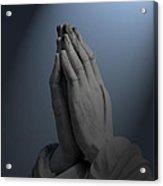Illuminated Praying Hands Acrylic Print