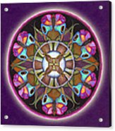Illusion Of Self Mandala Acrylic Print