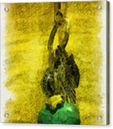 Illustrated Turquoise Heart I Acrylic Print