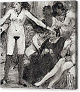 Illustration From La Maison Tellier By Guy De Maupassant  Acrylic Print