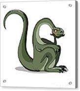 Illustration Of A Brontosaurus Thinking Acrylic Print