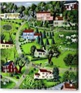 Illustration Of A Village Acrylic Print