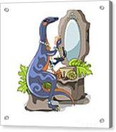 Illustration Of An Iguanodon Putting Acrylic Print