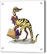 Illustration Of An Iguanodon Acrylic Print
